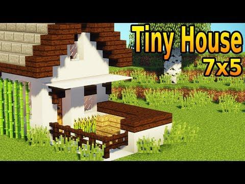Minecraft How To Build A Tiny House Tutorial 1