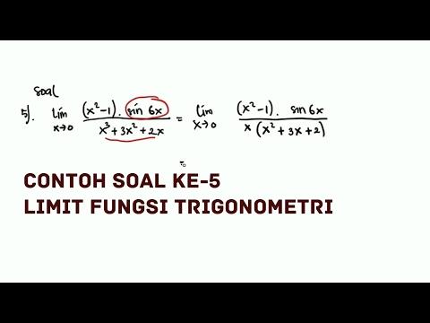 Limit Fungsi Trigonometri - Contoh 5