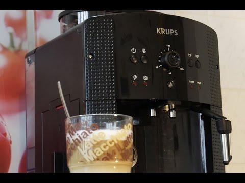 Latte Macchiato  Zubereitung mit Kaffeevollautomat (KRUPS EA 8108) & Reinigung