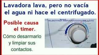 Lavadora no exprime.  Cómo restaurar el Timer. - - Washer no spin. How restore the timer.