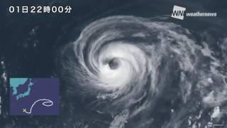 台風5号18日間の一生を1分で振り返る