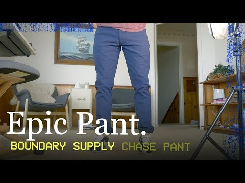BEST TRAVEL PANT?? -  Boundary Supply Chase Pant