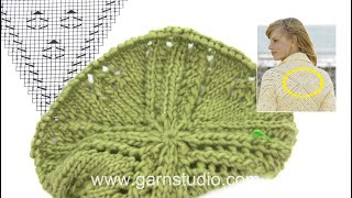 How to knit A.1 for the bolero in DROPS 170-5