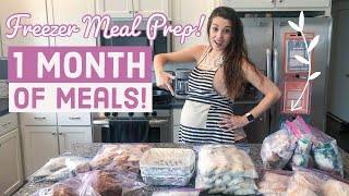 ❄️ FREEZER MEAL PREP! *Fill Your Freezer* (POSTPARTUM PREP FOR NEW MOMS)