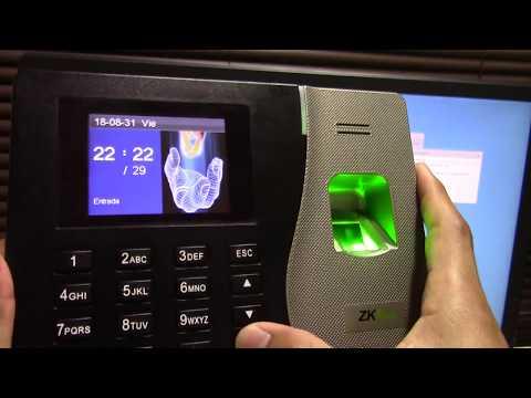 configuración  EN RED Biometrico ZK  K14 o similares