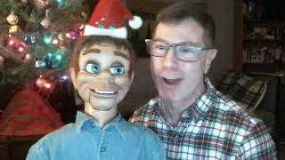 Christmas fun with gay ventriloquist Charley and Archie