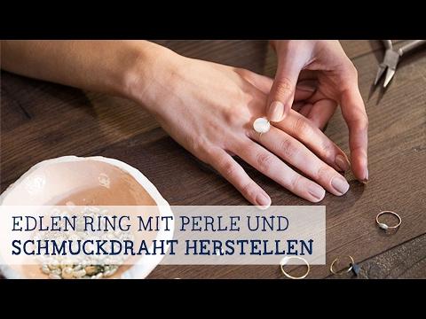 Edlen Ring mit Perle und Schmuckdraht herstellen