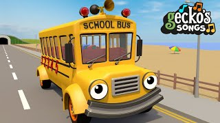 Wheels on the Bus Sing Along | Nursery Rhymes & Kids Songs | Gecko's Garage | Bus Videos For Kids