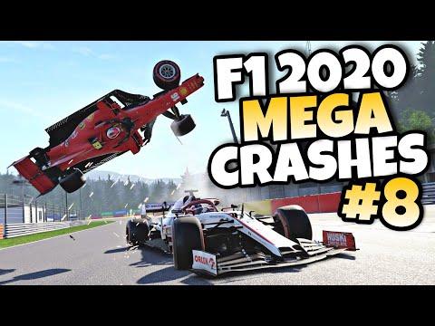 F1 2020 MEGA CRASHES #8