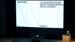 A Conversation with Tiona Nekkia McClodden | Live from the Whitney