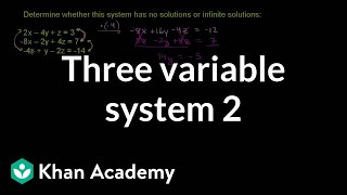Solutions to Three Variable System
