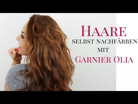 Haare selbst nachfärben mit Garnier Olia