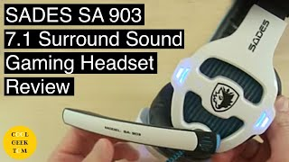 SADES SA903 7.1 Surround Sound Gaming Headset Review + Microphone Audio Demo
