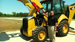 Cat® F Series Backhoe Loader Service Access Points
