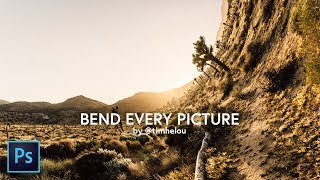 Photoshop Tutorial: BEND EVERY PICTURE IN UNDER 90 SECONDS | manipulation by @timhelou