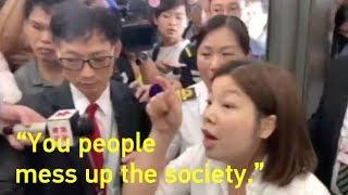 Video : China : Hong Kong riots - foreign hands