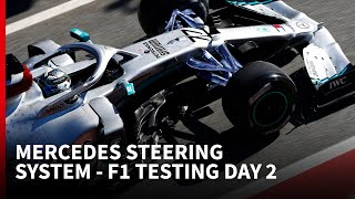 Mercedes steering system - F1 2020 testing - DAY 2 | The Rundown