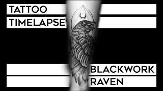 Tattoo Timelapse : Blackwork Raven