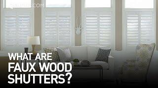 Custom Faux Wood Shutters | Window Treatment Ideas