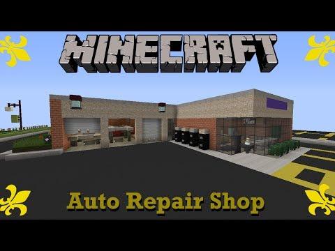 Suburban Auto Repair Garage Minecraft Project