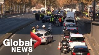 1 dead, dozens injured in French protests against rising fuel taxes