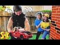 Download Video Noah gets Super Strength and SMASHES WWE Wrekkin Slam Mobile | SuperHeroKids