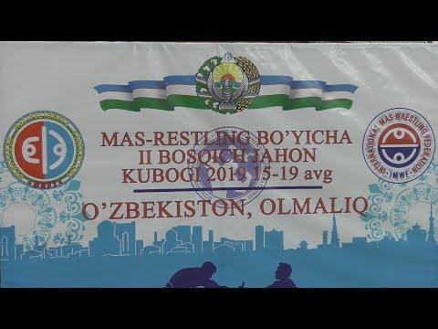 Mas-wrestling World Cup-2019. The 2st stage. Olmaliq, Uzbekistan