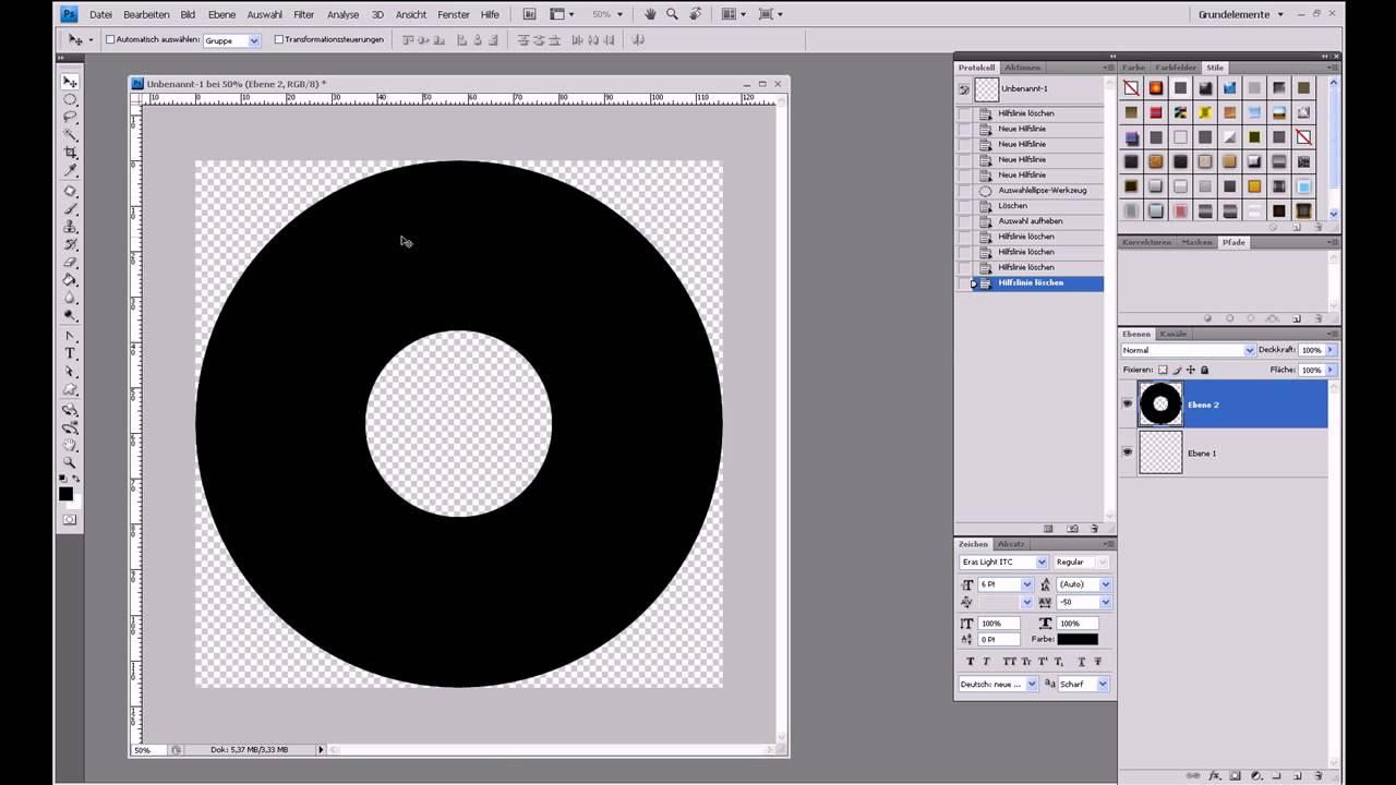 CD-Label erstellen – Photoshop-Tutorial