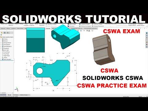 Solidworks tutorial CSWA Practice Sample Exam PART1 - YouTube