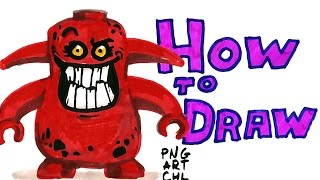 How to Draw Nexo Knights-Monster-Lego