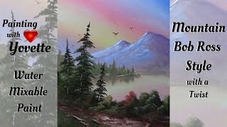 Mountain, Bob Ross Style, With a Twist! Water Mixable Oil Painting Techniques With Yovette