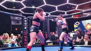 Valerie Loureda Debut round 2 & 3 MMA