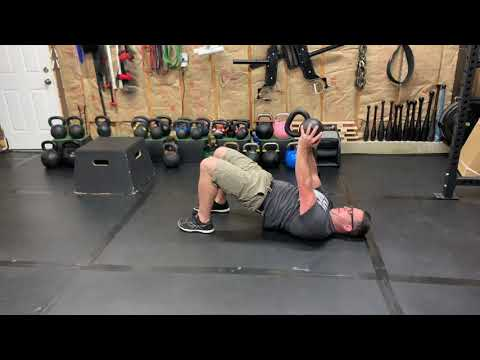 Kettlebell Crush Grip Bridge Press
