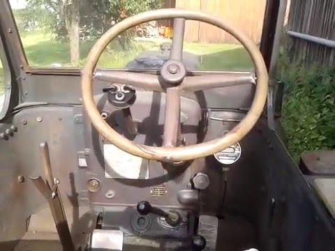 35 PS Eilbulldog Lanz Bulldog mit Zahnstangenkipper voll Holz