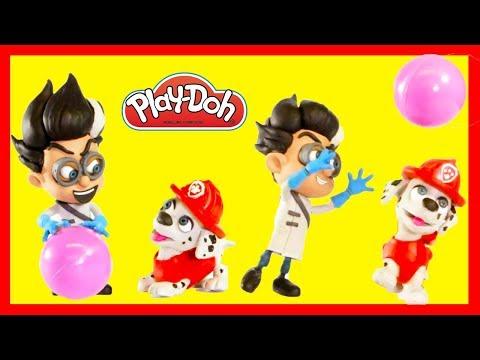 PJ Masks Romeo and Paw Patrol Marshall Claymation Stopmotion Fun   Ellie Sparkles