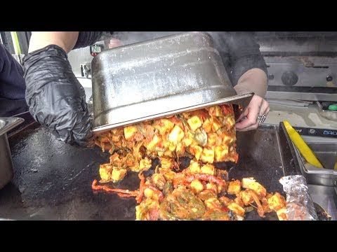 Filled Wraps from Yorkshire and from Kolkata, India. World Street Food of London