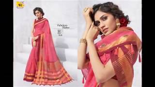 "SR LAUNCHING A New Brand Catlogue In Cotton Concept ""SIYA""  Soft Cotton With Weaving Pallu"