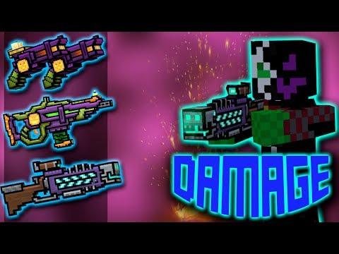 Pixel Gun 3D - Using Halloween Weapons : Shots Damage + Reloading Animations