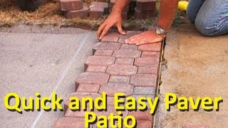 How to Lay Patio Pavers - Video Youtube