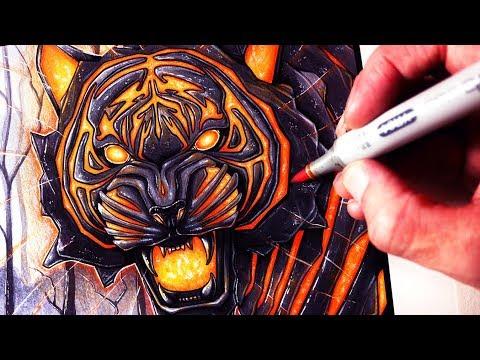 Let's Draw a LAVA TIGER - FANTASY ART FRIDAY