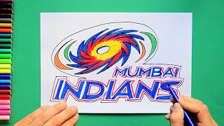 How to draw Mumbai Indians Logo [Indian Premier League]