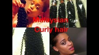 Initial taughts on Malaysian curly hair /aliexpress alibraba hair
