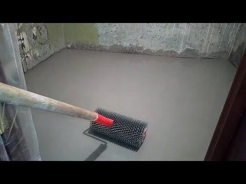 Наливной пол за 5 минут на старую плитку при ремонте в ванной для качественной укладки плитки