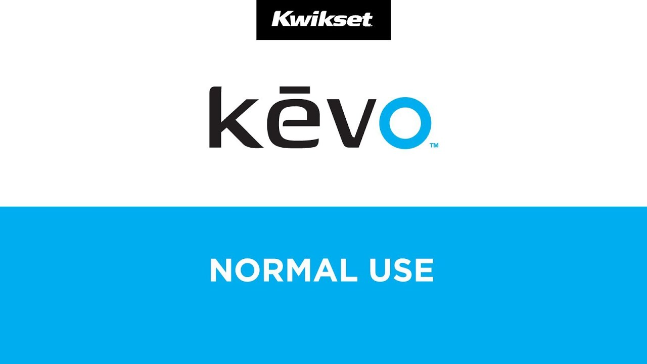 Kevo Normal Use - Kwikset Kevo Bluetooth Enabled Smart Lock