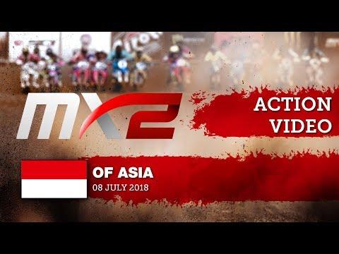 Calvin Vlaanderen passes Thomas Covington - MX2  Race 2 - MXGP of Asia 2018