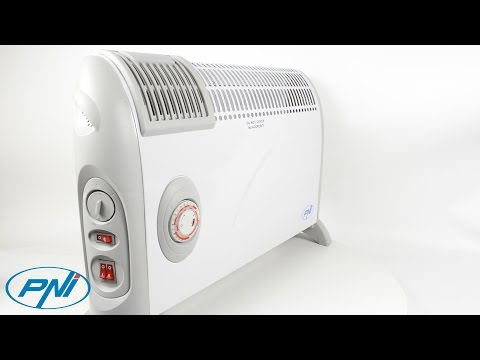 Convector electric de podea PNI Turbo Heat 2000W, 3 trepte de putere, ventilatie, timer, termostat