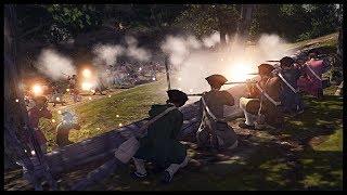 COLONIAL MILITIA CONVOY AMBUSH! British Redcoat Company Attacked - Men of War BITFA Mod Gameplay