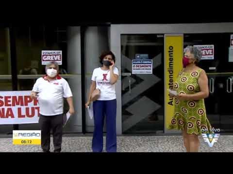 Bom Dia Região - Greve de 24h no Banco do Brasil contra a reestruturação