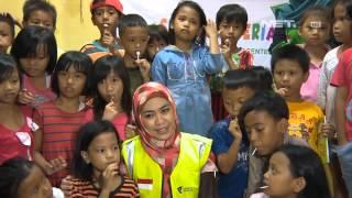 Entertaiment News - Oki Setiana Dewi membantu korban banjir