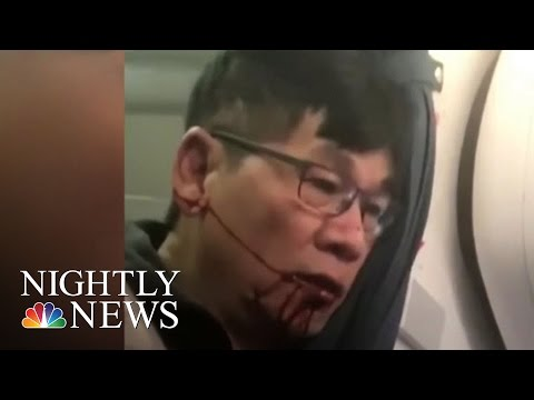 New Video Shows United Passenger Before Dragging Incident | NBC Nightly News